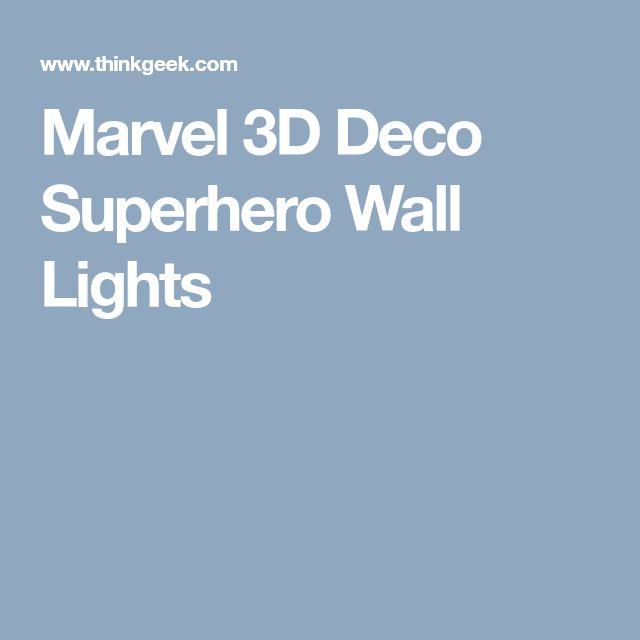 Marvel 3D Deco Superhero Wall Lights