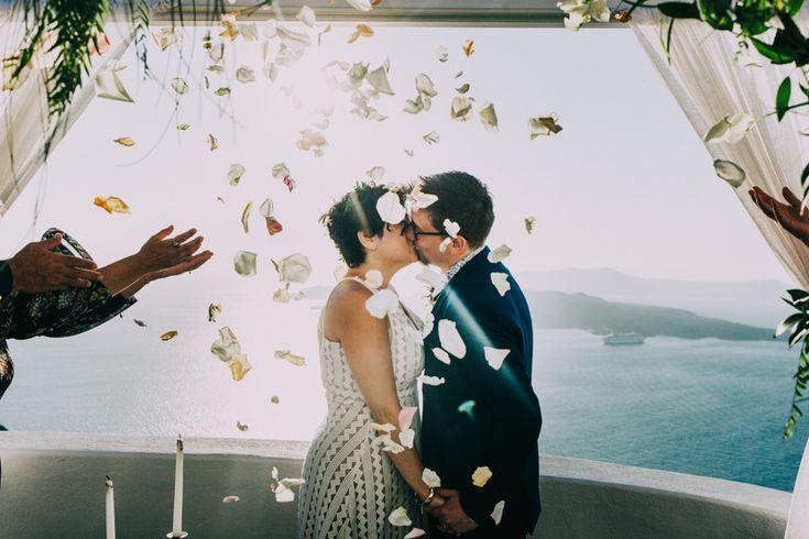 Wedding elopement in Santorini -  Santorini wedding photographer