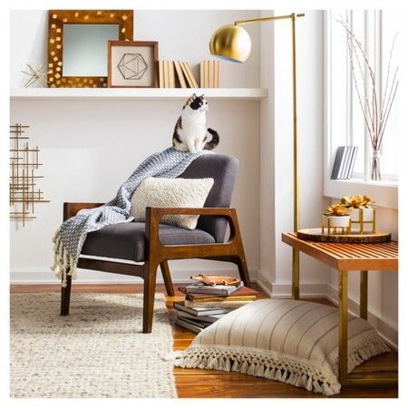 Windson Wood Arm Chair - Threshold, Grey. Brass Floor LampFloor LampsNew Living  RoomTarget ... - 25+ Best Ideas About Target Living Room On Pinterest Entry Wall