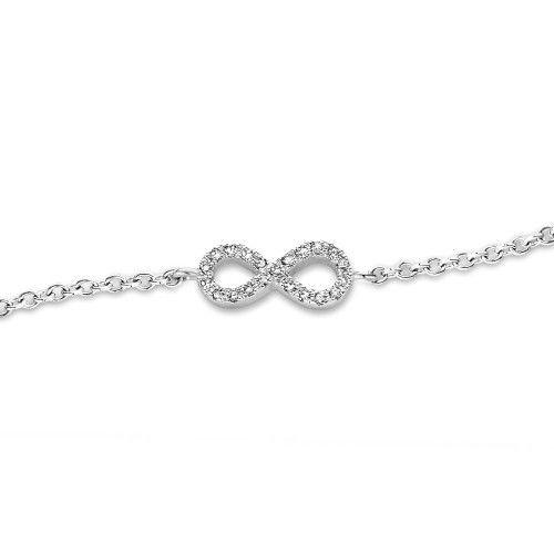 Onze Infinity diamanten armband staat voor oneindige liefde, oneindige kleuren, een oneindig aantal modellen en een oneindige combinatie aan kleuren.