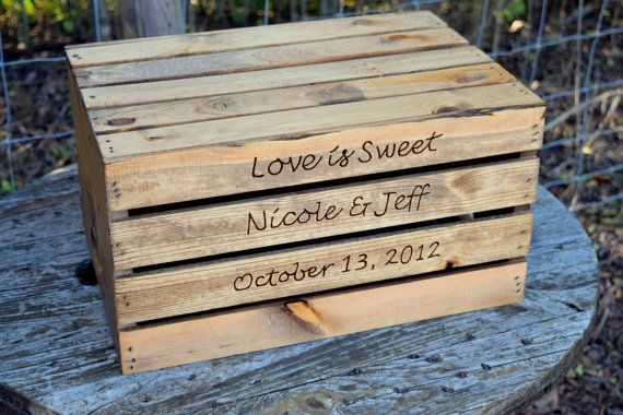 Rustic Wedding Cake Stand - Rustic Crate - Personalized Wooden Cake Stand - Rustic Wedding Decor - Wedding Cake Holder - Box Cake Stand