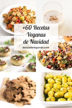 Más de 60 recetas veganas de navidad para unas fiestas más saludables y respetuosas con el planeta y con nuestros amigos los animales.