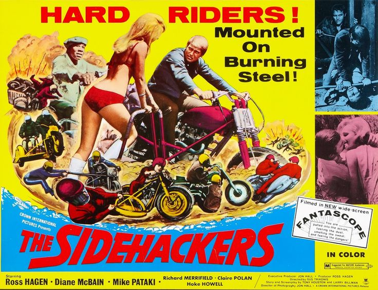 biker movie posters - the sidehackers