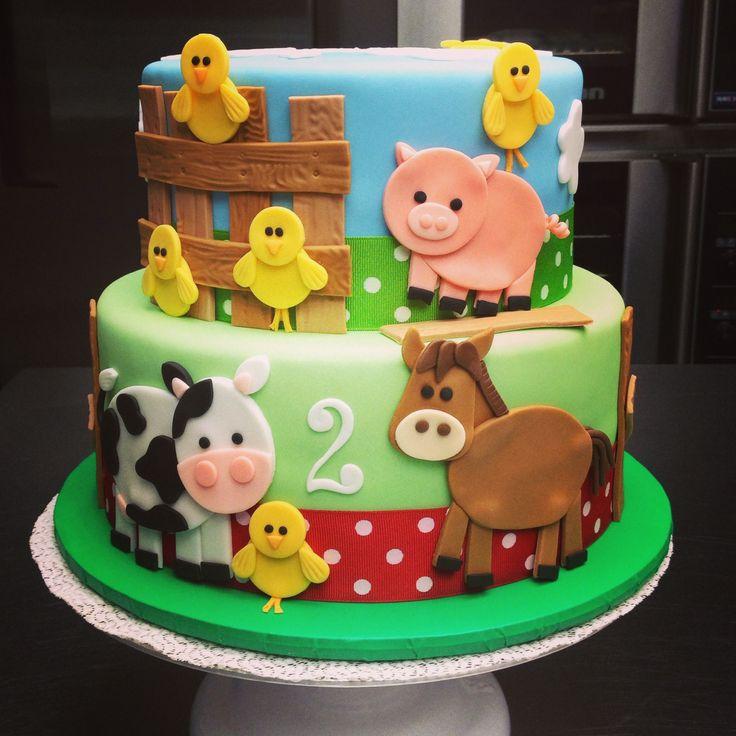 Farm Cake Decorations Uk : The 25+ best Farm birthday cakes ideas on Pinterest Farm ...