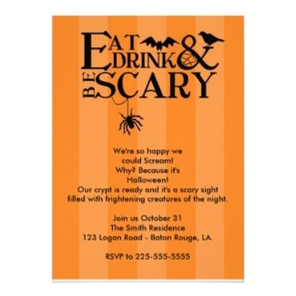 96 best Halloween Chic Invitations images on Pinterest Halloween - halloween invitation template
