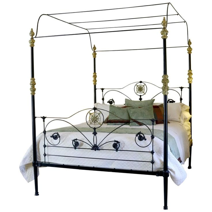 120 best images on pinterest four poster beds canopy for Wrought iron four poster bed frames