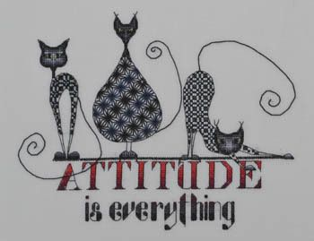 MarNic Designs Attitude is Everything (Cats) - Cross Stitch ...