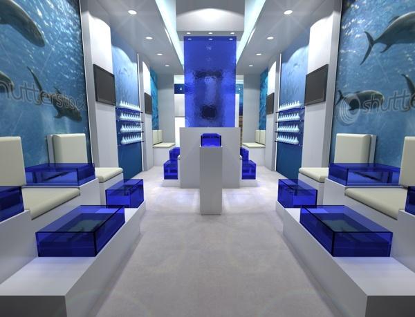 Fish-spa in Rhodes by 4CONCEPT ltd , via Behance