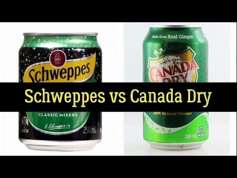 Schweppes vs Canada Dry - Side Effects, Nutrition Facts, History