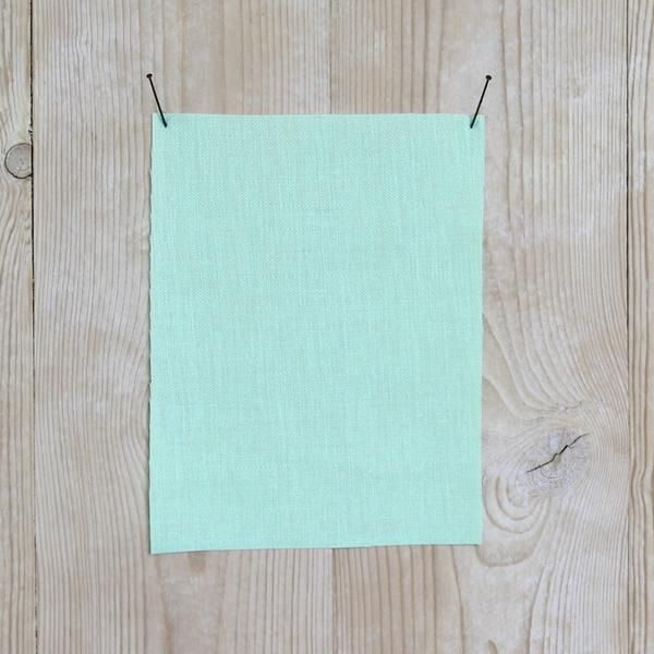 The Fabric Store Online 100% Linen Herringbone Mint