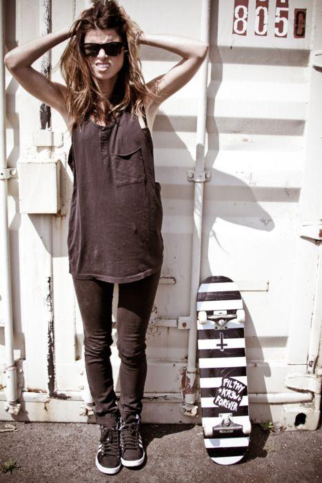 #fashion #skateboard #attitude