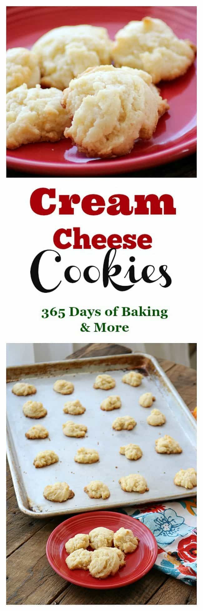 These Cream Cheese cookies are super simple to make, are light and so delicious that it's easy to eat more than one!