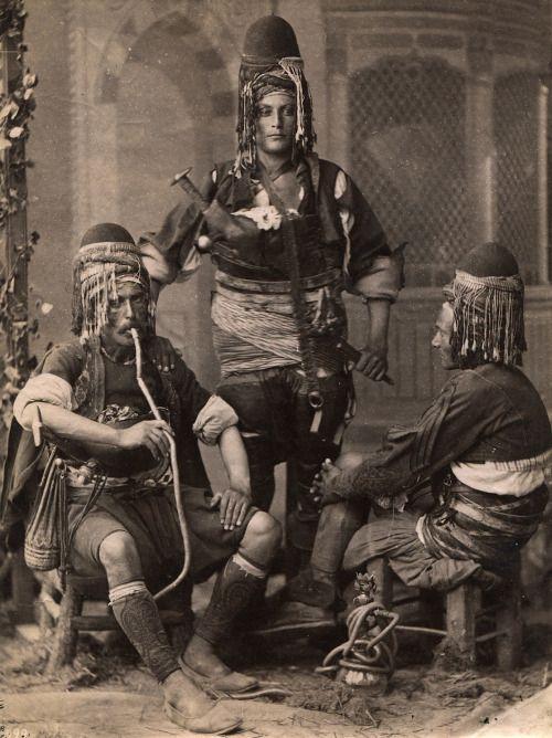"magictransistor: ""Abdullah Biraderler (Abdullah Fréres), Bashi-Bazouks (Turkish infrantrymen), Bayazid district, Istambul, 1888. """