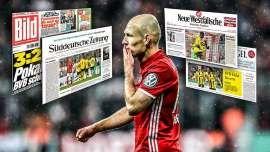 Bayern Münchens Arjen Robben vergab am 26. April 2017 im Pokal-Halbfinale gegen Dortmund mehrere Großchancen.: Der FC Bayern erntet in der Presse Häme