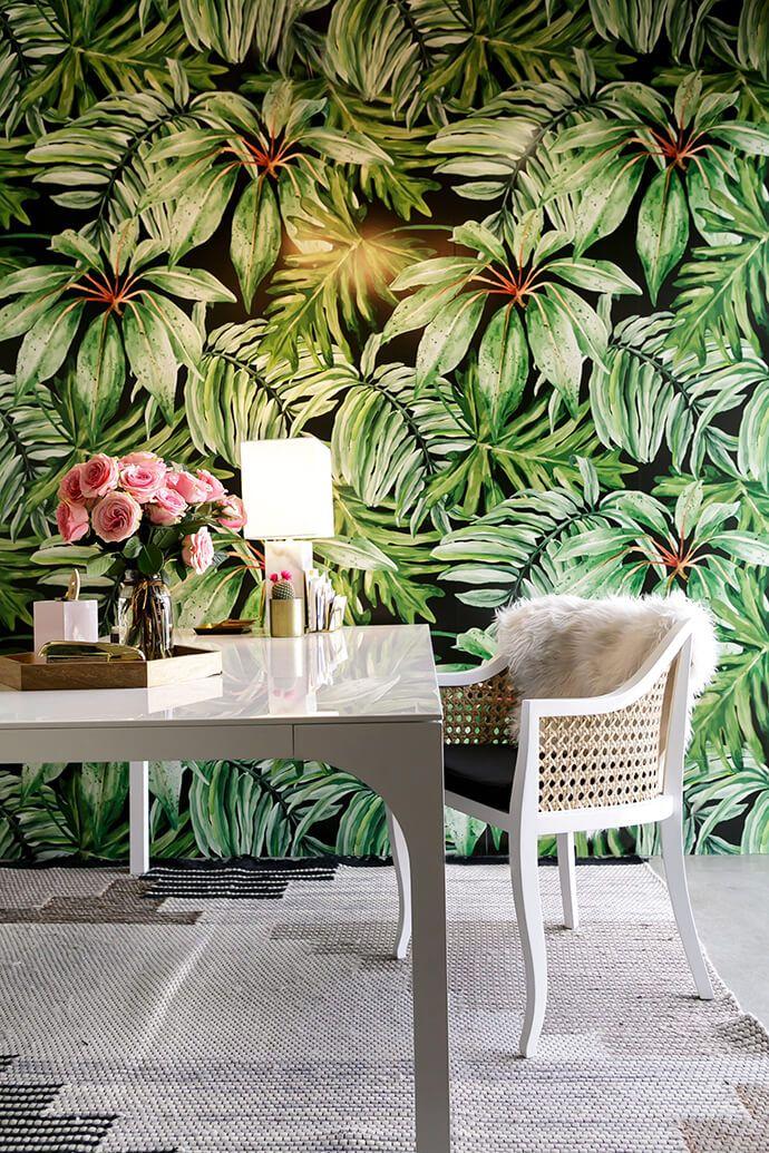 papier peint tropical
