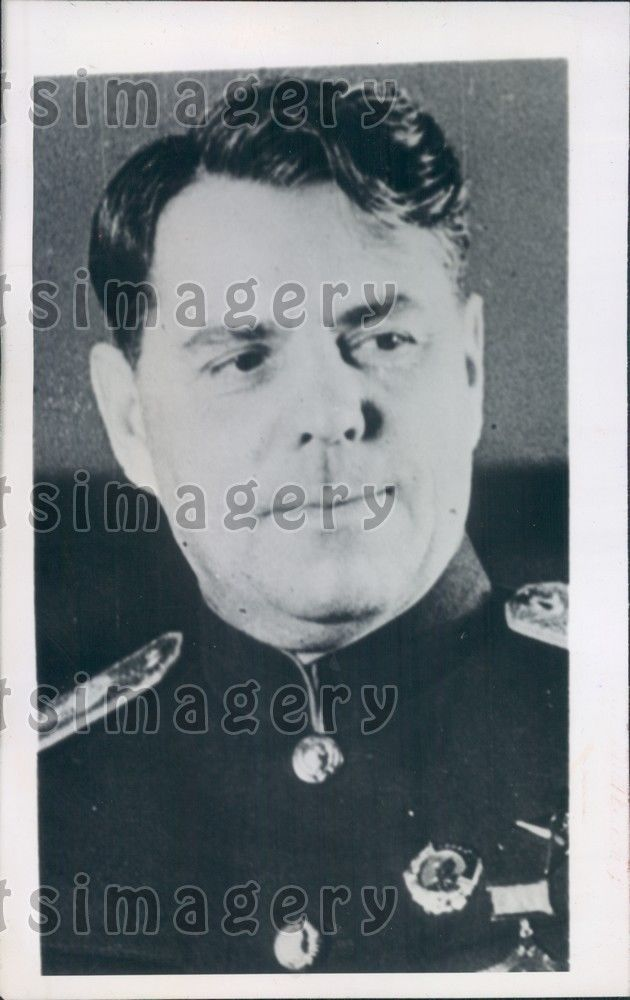 1945 Soviet Army Chief of Staff A.M. Vasilevsky WWII Press Photo