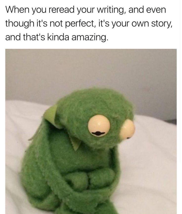 cant relate when i read mine i wanna puke