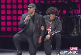 Stevie Wonder Takes a knee for America.  And then the other knee - in prayer.  Class act.  What he said before kneeling puts it in context.  Class act.
