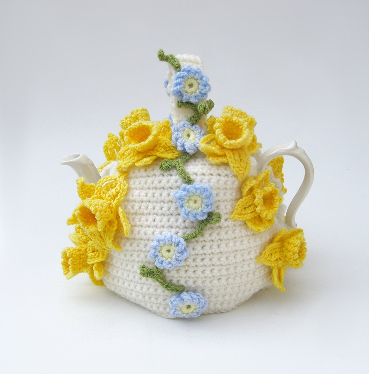 Spring flowers teapot cozy