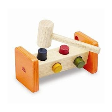 Wooden Hammer Bench | Endless Pounder | Toddler Workbench Toys