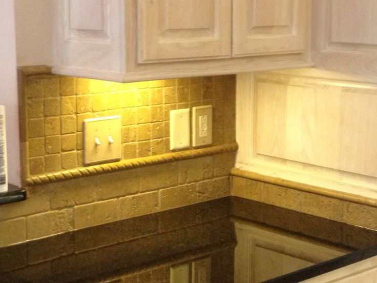 Tumbled Travertine Backsplash Ideas Kitchen Travertine