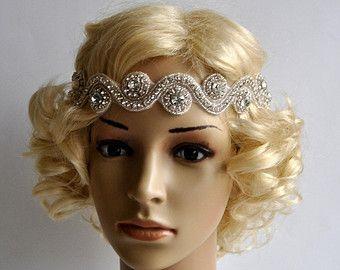 Aleta de diamantes de imitación Gatsby venda por BlueSkyHorizons