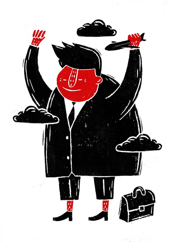 """""""April showers bring forth May flowers!"""" - Linocut on Behance"""
