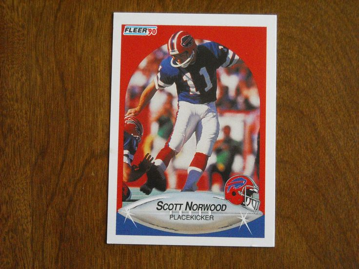 Scott Norwood Buffalo Bills Placekicker Card No. 114 (FB114) 1990 Fleer Football Card - for sale at Wenzel Thrifty Nickel ecrater store