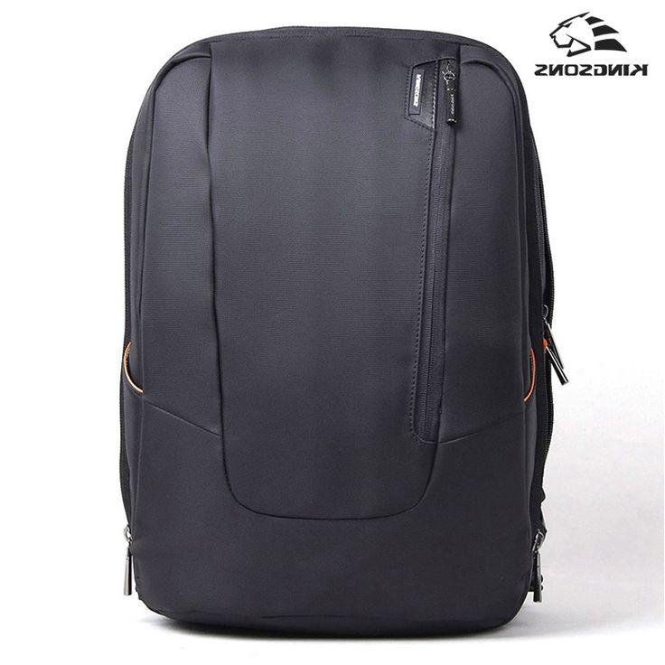 39.50$  Buy here - https://alitems.com/g/1e8d114494b01f4c715516525dc3e8/?i=5&ulp=https%3A%2F%2Fwww.aliexpress.com%2Fitem%2FFree-shipping-2015-trend-bags-Kingsons-laptop-backpack-KS3019-High-quality-man-s-best-choice-laptop%2F32522804001.html - Kingsons Backpack Women Men Ascend Backpack Multi-functional School Bag Rucksack Mochila Masculina Bolsa Feminina Black