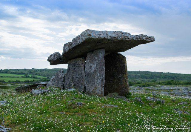 Poulnabrone Dolmen in the Burren, county Clare
