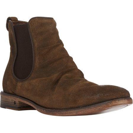 John Varvatos Distressed Fleetwood Chelsea Boots in Brown for Men