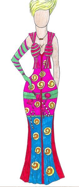 Карамель (мой эскиз) Caramel (my sketch)  #fashion #Style #мода #design #designer #дизайнер #стиль
