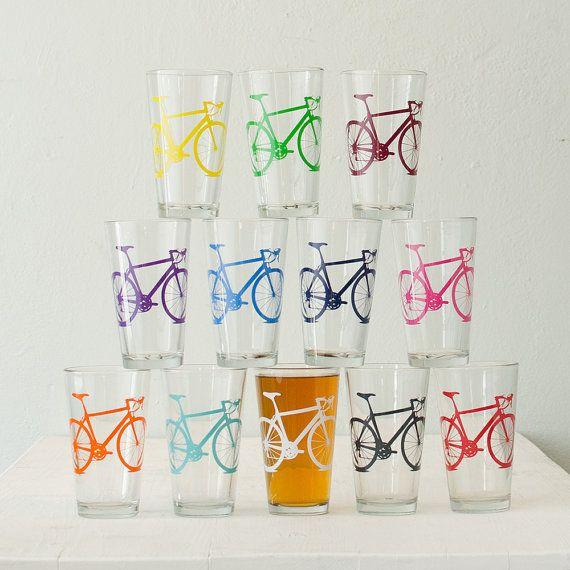 MEGA CRAZY SUPER Bike party screen printed bicycle pint by vital, $96.00