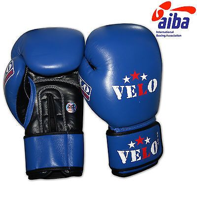 Velo aiba leather #boxing gloves #competition mma muay thai training #equipment,  View more on the LINK: http://www.zeppy.io/product/gb/2/322005094455/