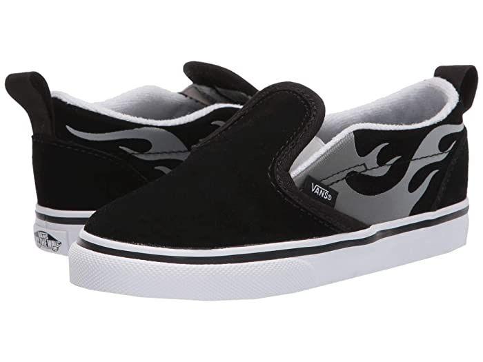 kids slip on black vans