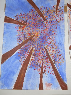 Polka Dot Spot: Different Perspective Trees. instead of having everybody do those same q-tip trees, some may want to do them like this which may turn into some interesting ideas(;