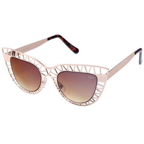 Quay Eyeware Steel Cat Sunglasses from City Beach Australia