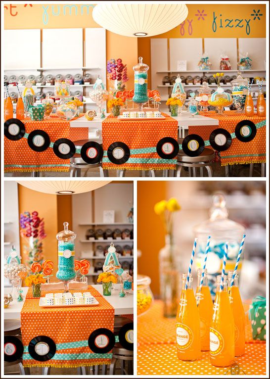 Retro Candy Shop Party & amazing party ideas: Candy Parties, Candy Shops Parties, Candy Buffet, Candy Bar, Retro Parties, Parties Ideas, Parties Theme, Retro Candy, Birthday Decorations