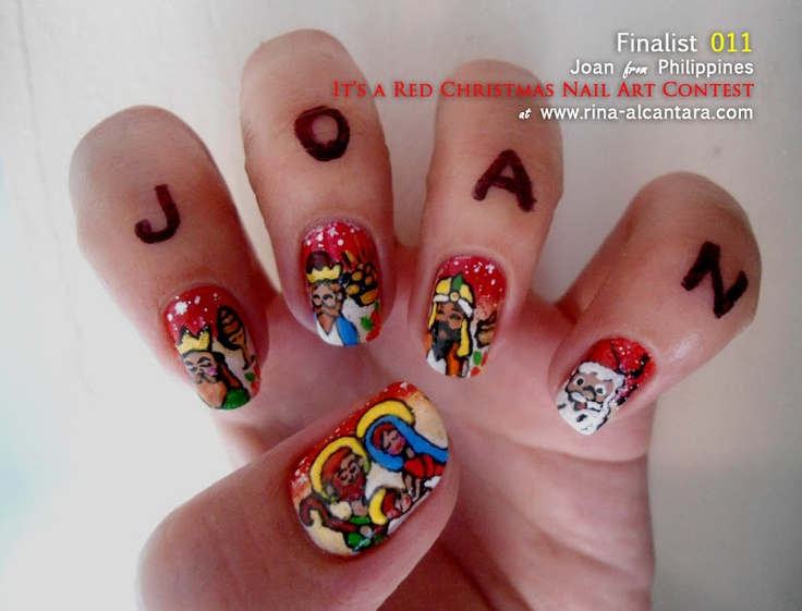 192 best christmas nail art images on pinterest christmas nails its a red christmas nail art contest entry check out mynailpolishobsession for prinsesfo Gallery