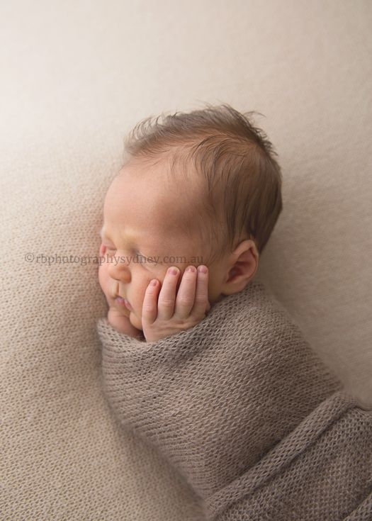 Wrapped up tight | Newborn baby photographs | Rebecca Bowman Photography, Sydney