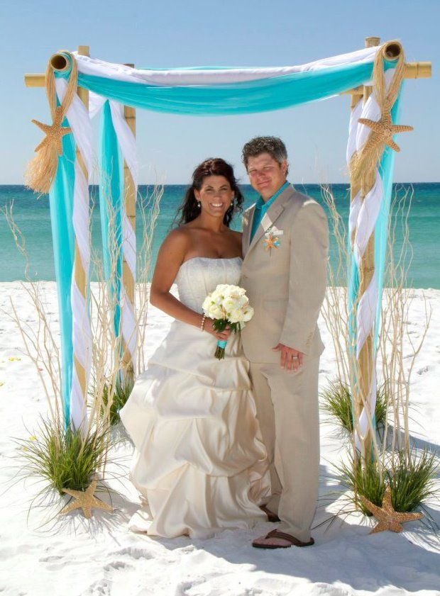 beach wedding trellis | ... Destin Florida Barefoot Beach Wedding Packages by Barefoot Weddings