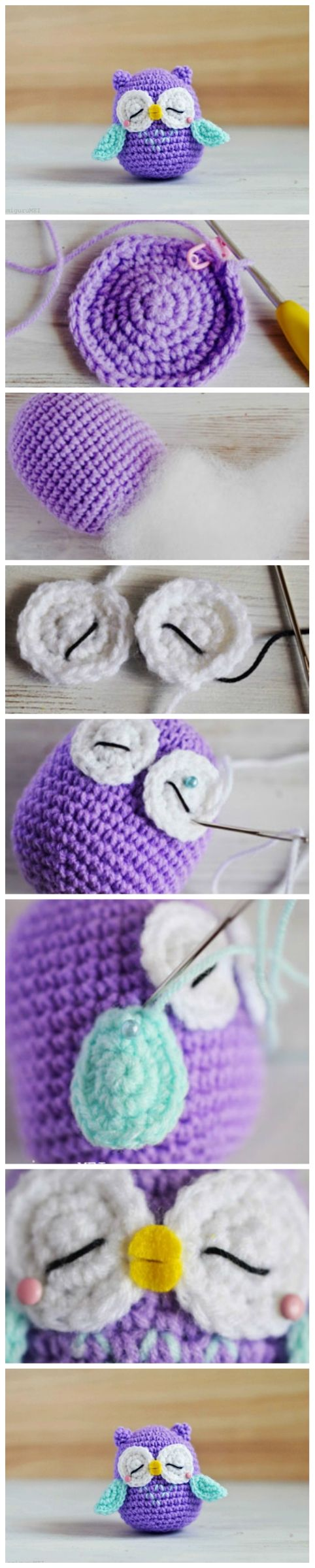 DIY Owl Amigurumi – Mr Murasaki