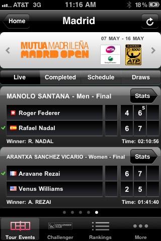 ATP/WTA Live Official Live scoring #App
