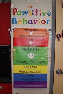 Classroom discipline clip chart ~ love discipline charts that have the option to move up and down based on behaviors.  Other fun 1st grade ideas also
