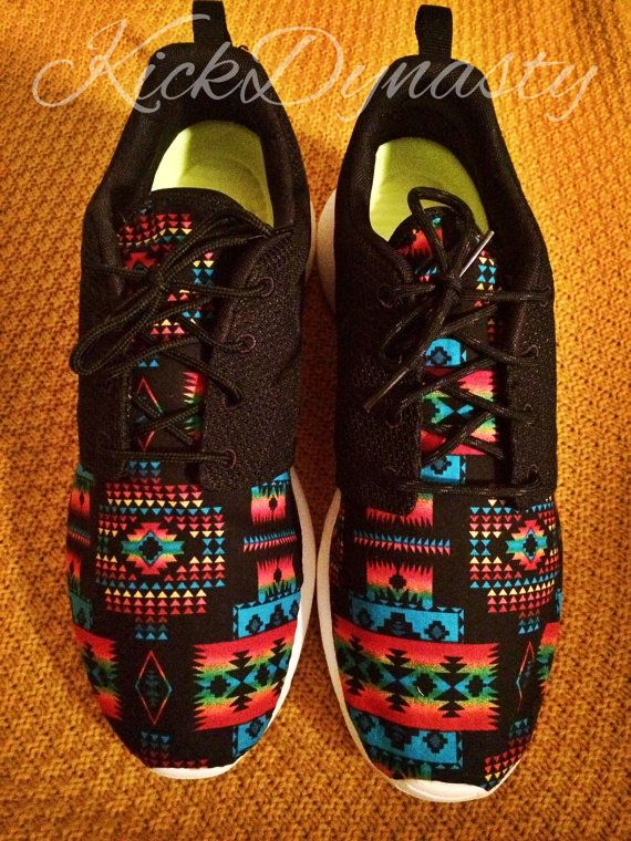 BACK 2 SCHOOL SALE Tribal Aztec Nike Roshe Run by KickDynasty