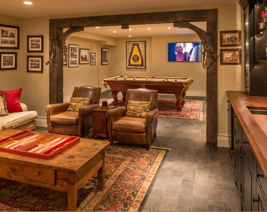 Best 25 rustic basement ideas on pinterest rustic bars for Rustic finished basement