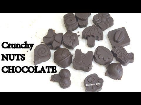 How To Make Crunchy NUTS CHOCOLATE At Home/Easy & Quick Recipe In Hindi