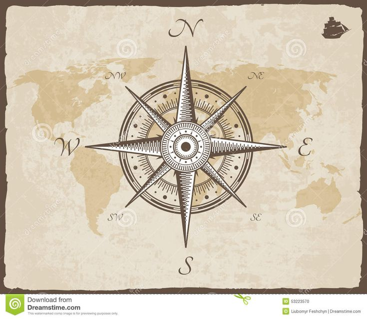 vintage-nautical-compass-old-map-vector-paper-texture-torn-border-frame-wind-rose-background-53223570.jpg (1300×1130)