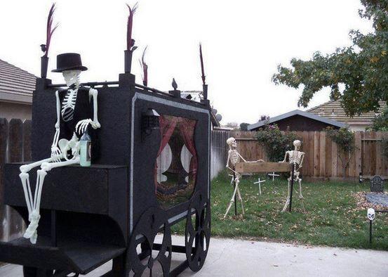 Halloween outside deco