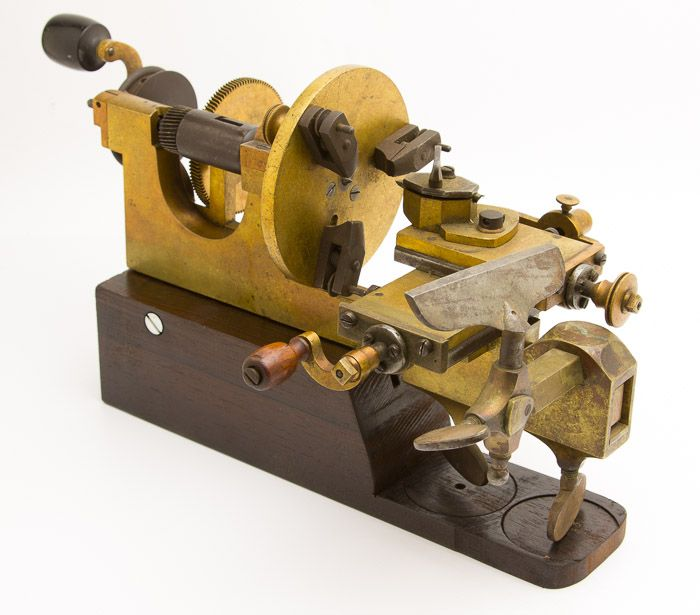 Brass Watchmaker S Lathe With Compound Rest Tools 2